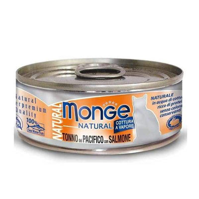 Monge Monge Natural Yellowfin Tuna With Salmon Canned Cat Food 80g Cat Food & Treats