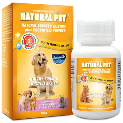Natural Pet [15% OFF] Natural Pet Natural Seaweed Calcium Plus Probiotics Pet Supplement Powder 100g Dog Healthcare
