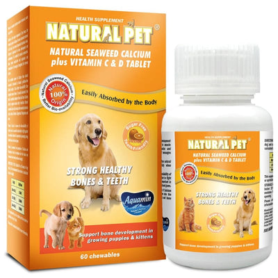 Natural Pet [15% OFF] Natural Pet Seaweed Calcium Plus Vitamin C & D Pet Supplement 60 tablets Dog Healthcare