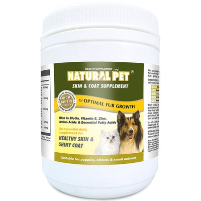 Natural Pet [15% OFF] Natural Pet Skin Coat Supplement Powder 400g with 27 Essential Vitamins and Minerals Dog Healthcare