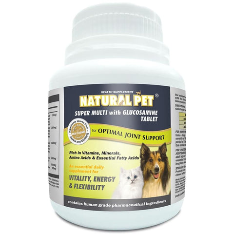 Natural Pet [15% OFF] Natural Pet Super Multi with Glucosamine 240 Tablet Dog Healthcare