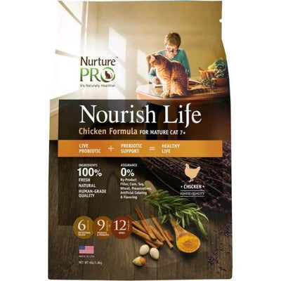 Nurture Pro [20% OFF + 2 X FREE TREATS*] Nurture Pro Nourish Life Chicken Mature 7+ Formula Dry Cat Food Dog Food & Treats
