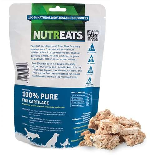 Nutreats Nutreats Freeze Dried Fish Cartilage Treats For Dogs 50g Dog Food & Treats