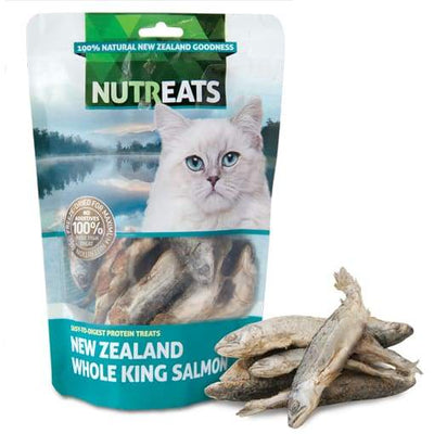 Nutreats Nutreats Freeze Dried Whole King Salmon Treats for Cats 50g Cat Food & Treats