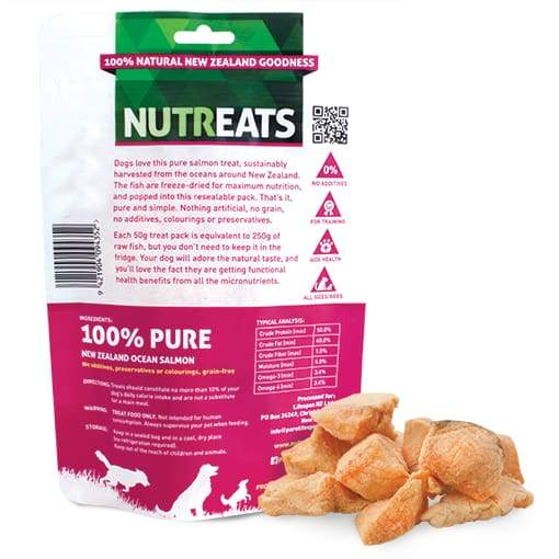 Nutreats Nutreats Freeze Dried Ocean Salmon Treats for Dogs 50g Dog Food & Treats