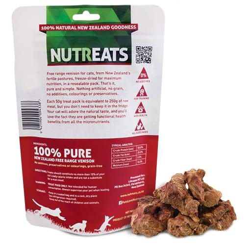 Nutreats Nutreats Freeze Dried Free Range Venison Treats for Cats 50g Cat Food & Treats