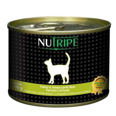 Nutripe Nutripe Turkey & Green Lamb Tripe Canned Cat Food 185g Cat Food & Treats