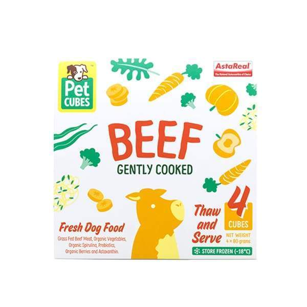 Pet Cubes [5% OFF + FREE BROTH*] Pet Cubes Complete Gently Cooked Beef Frozen Dog Food 2.25kg Dog Food & Treats