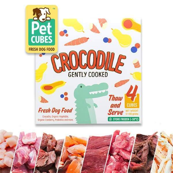 Pet Cubes [5% OFF + FREE BROTH*] Pet Cubes Complete Gently Cooked Crocodile Frozen Dog Food 2.25kg Dog Food & Treats
