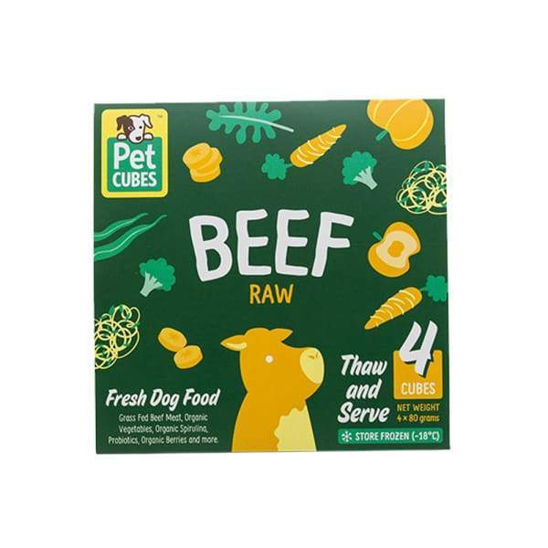 Pet Cubes [5% OFF + FREE BROTH*] Pet Cubes Beef Frozen Raw Dog Food 2.25kg Dog Food & Treats