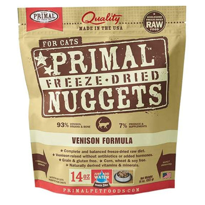 Primal [2 For $129.90] Primal Freeze Dried Venison Raw Cat Food Cat Food & Treats