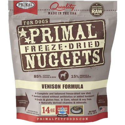 Primal [2 For $129.90] Primal Freeze-Dried Venison Grain-Free Dog Food 14oz Dog Food & Treats