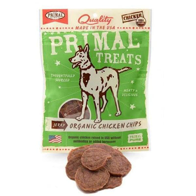 Primal [33% OFF] Primal Jerky Organic Chicken Chips Dog Treats 3oz Dog Food & Treats