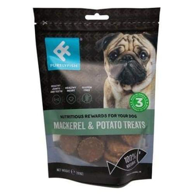 Purely Fish Purely Fish Mackerel & Potato Dog Treats 100g Dog Food & Treats