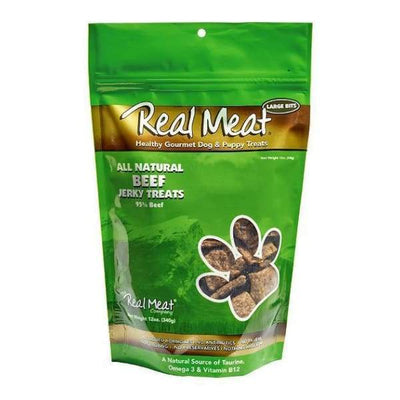 Real Meat Real Meat All Natural Beef Jerky Dog Treats 12oz Dog Food & Treats