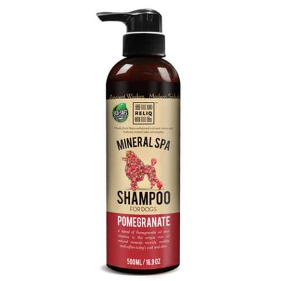Reliq Reliq Mineral Spa Pomegranate Shampoo For Dogs Grooming & Hygiene