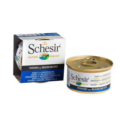 Schesir Schesir Tuna with Whitebait in Jelly Canned Cat Food 85g Cat Food & Treats