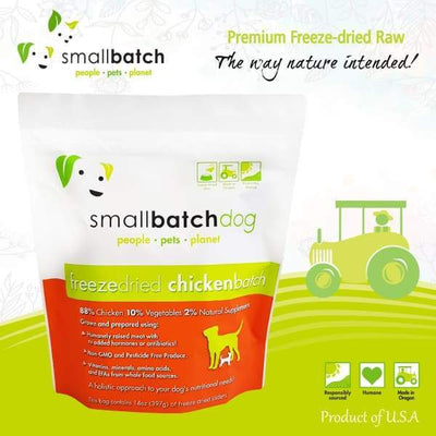 Smallbatch [MIX & MATCH UP TO 39% OFF] Smallbatch Chicken Slider Freeze Dried Dog Food 14oz Dog Food & Treats