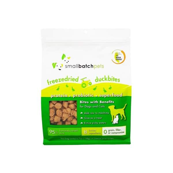 Smallbatch [MIX & MATCH UP TO 29% OFF] Smallbatch Duck Bites Freeze Dried Dog & Cat Topper/Treats 7oz Dog Food & Treats