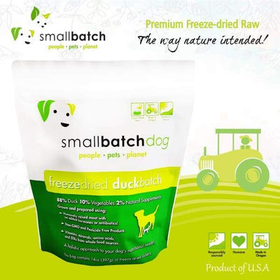 Smallbatch [MIX & MATCH UP TO 39% OFF] Smallbatch Duck Slider Freeze Dried Dog Food 14oz Dog Food & Treats