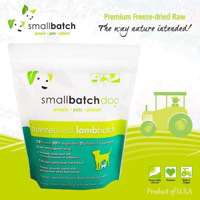 Smallbatch [MIX & MATCH UP TO 39% OFF] Smallbatch Lamb Slider Freeze Dried Dog Food 14oz Dog Food & Treats