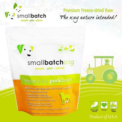 Smallbatch [MIX & MATCH UP TO 39% OFF] Smallbatch Pork Slider Freeze Dried Dog Food 14oz Dog Food & Treats