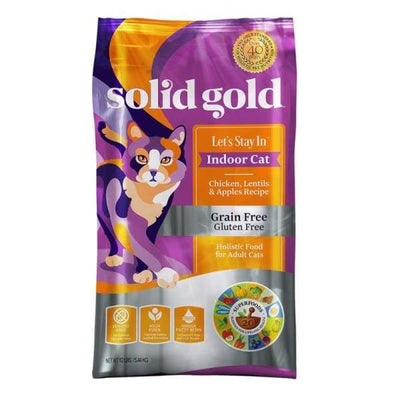 Solid Gold Solid Gold Lets Stay In Indoor Chicken Lentils & Apple Recipe Dry Cat Food Cat Food & Treats