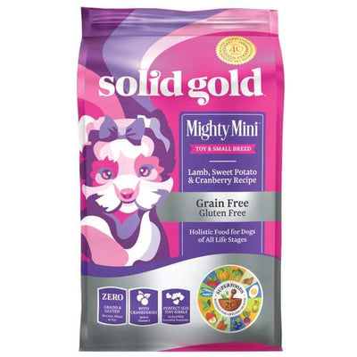 Solid Gold Solid Gold Mighty Mini Lamb Sweet Potato and Cranberry Recipe Dry Dog Food 1.8kg Dog Food & Treats