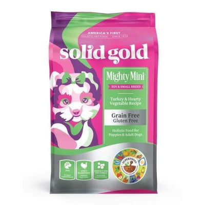 Solid Gold Solid Gold Mighty Mini Turkey & Hearty Vegetable Recipe Dry Dog Food 1.8kg Dog Food & Treats