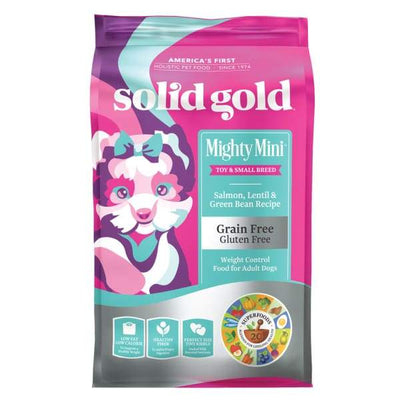 Solid Gold Solid Gold Mighty Mini Salmon Lentil and Green Bean Recipe Dry Dog Food 1.8kg Dog Food & Treats