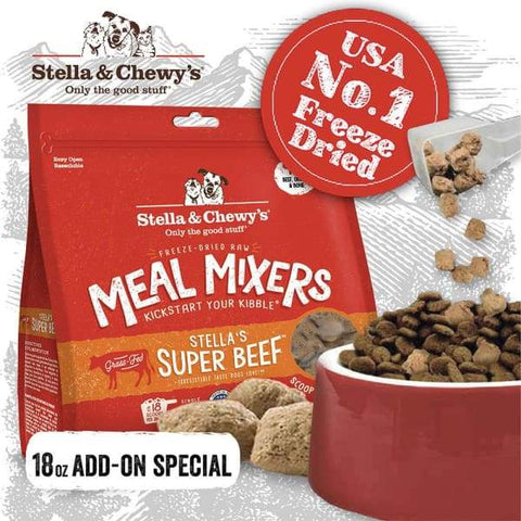 Stella & Chewy's [ADD-ON $6 OFF] Stella & Chewy's Super Beef Meal Mixers Freeze-Dried Raw Dog Food 18oz Dog Food & Treats