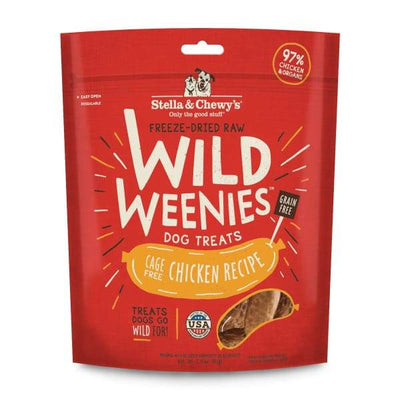 Stella & Chewys Stella & Chewys Wild Weenies Chicken Recipe Freeze Dried Dog Treats 3.25oz Dog Food & Treats