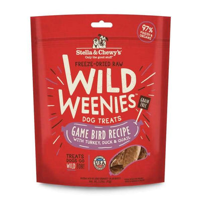 Stella & Chewys Stella & Chewys Wild Weenies Game Bird Recipe Freeze Dried Dog Treats 3.25oz Dog Food & Treats