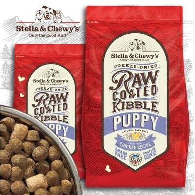 Stella & Chewys [15% OFF + FREE FOOD & TREATS*] Stella & Chewys Freeze-Dried Raw Coated Kibble Puppy Chicken Dry Dog Food Dog Food & Treats