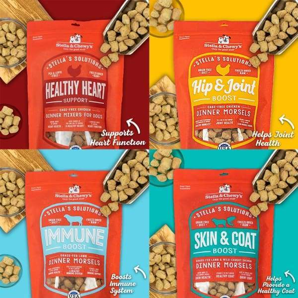 Stella & Chewy's [Exclusive $7 OFF] Stella & Chewy's Stella's Solutions Dinner Morsels Freeze Dried Dog Food 13oz Dog Food & Treats