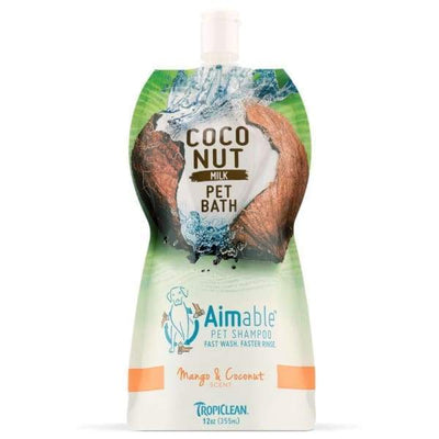 TropiClean [15% OFF] Tropiclean Aimable Coconut Milk Pet Bath Mango & Coconut Shampoo 12oz Grooming & Hygiene