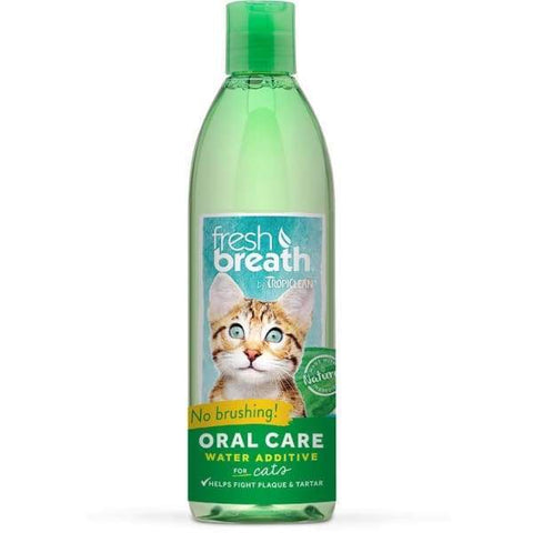 TropiClean [15% OFF] Tropiclean Fresh Breath Oral Care Water Additive For Cats 16oz Cat Healthcare