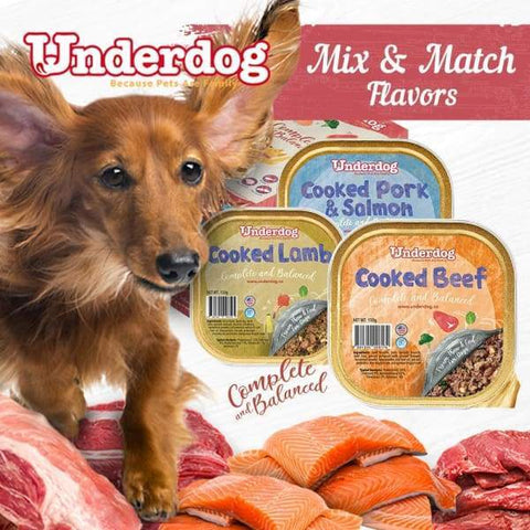 Underdog [10% OFF + FREE TREATS*] Mix & Match Underdog Cooked Fresh Frozen Dog Food 1.2kg Dog Food & Treats