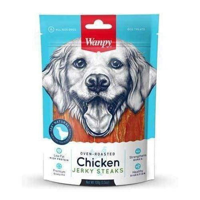 Wanpy Wanpy Oven-Roasted Chicken Steaks Dog Treats 100g Dog Food & Treats