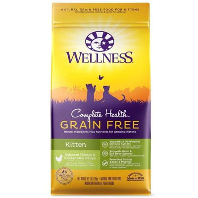 Wellness Wellness Complete Health Grain Free Kitten Deboned Chicken & Chicken Meal Dry Cat Food 5.5lb Cat Food & Treats