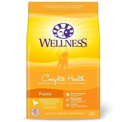 Wellness Wellness Complete Health Puppy Chicken Oatmeal & Salmon Dry Dog Food Dog Food & Treats