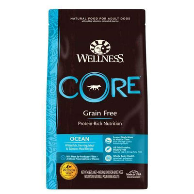 Wellness [20% OFF + FREE FOOD & TREATS*] Wellness CORE Grain-Free Ocean Formula Dry Dog Food Dog Food & Treats
