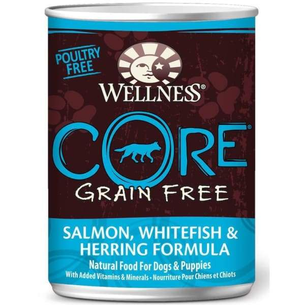 Wellness [20% OFF*] Wellness CORE Grain-Free Salmon Whitefish & Herring Canned Dog Food 354g Dog Food & Treats