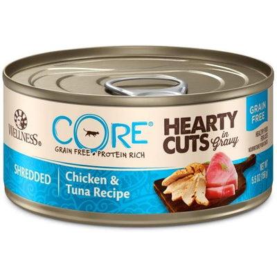 Wellness [20% OFF] Wellness CORE Hearty Cuts Shredded Chicken & Tuna Canned Cat Food 156g Cat Food & Treats