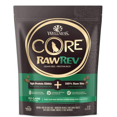 Wellness [20% OFF + FREE FOOD*] Wellness CORE RawRev Wild Game + 100% Raw Lamb Dry Dog Food Dog Food & Treats
