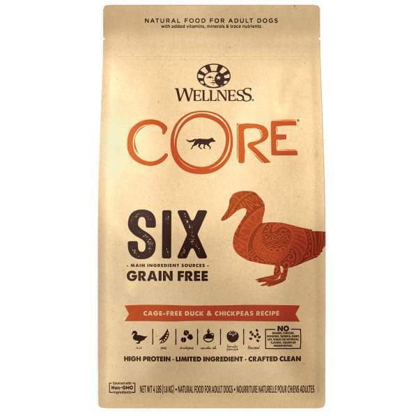 Wellness [20% OFF + FREE FOOD & TREATS*] Wellness CORE SIX Cage-Free Duck Dry Dog Food Dog Food & Treats