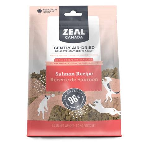 Zeal Canada [LIMITED-TIME 30% OFF] Zeal Canada Salmon Recipe Air Dried Dog Food (2 Sizes) Dog Food & Treats