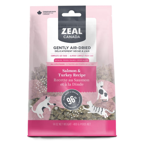 Zeal Canada [LIMITED-TIME 30% OFF] Zeal Canada Salmon & Turkey Recipe Air Dried Cat Food 400g Cat Food & Treats
