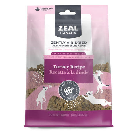 Zeal Canada [LIMITED-TIME 30% OFF] Zeal Canada Turkey Recipe Air Dried Dog Food (2 Sizes) Dog Food & Treats