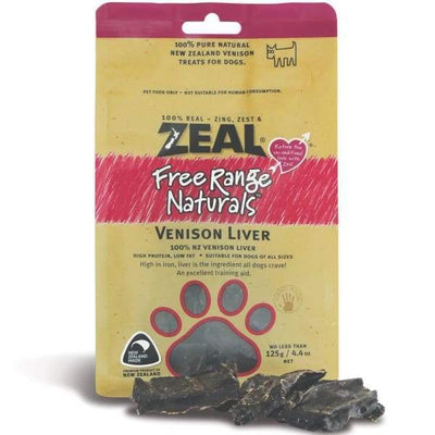 Zeal [BUY 3 WITH $19.90 OFF] Zeal Free Range Naturals Venison Liver Dog Treats 125g Dog Food & Treats